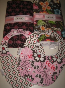Bibs, burp cloths, car seat cover