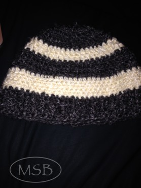 Hat I made for myself. No real pattern for this hat.