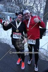 Me and hubby with our medals