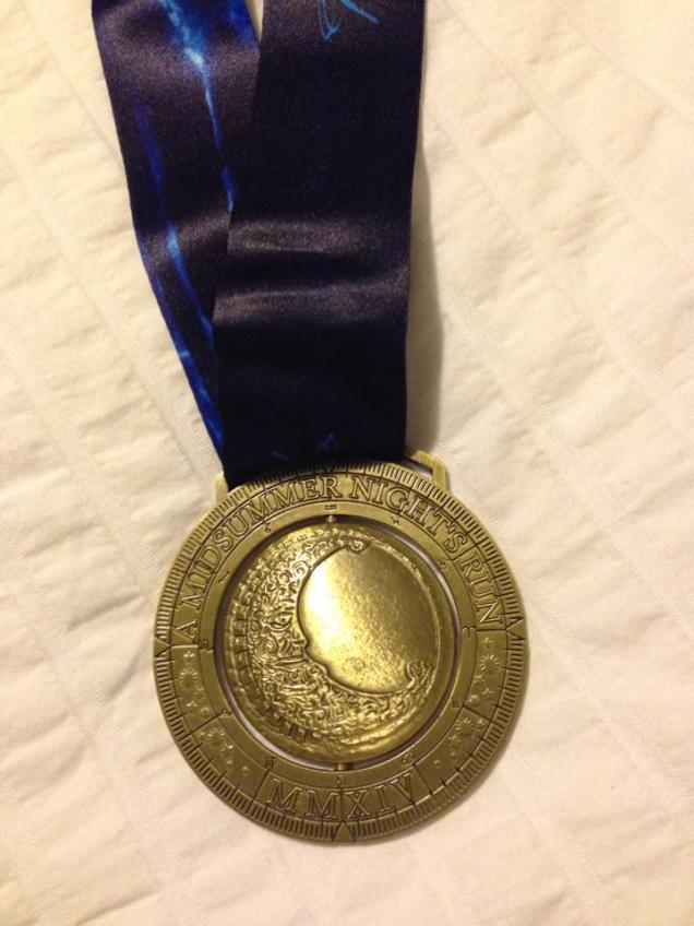 Close up of the medal - courtesy of Lisa