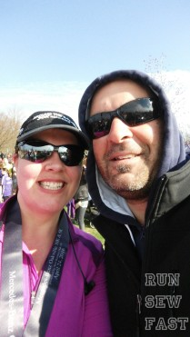 Hubby and I selfie post race.
