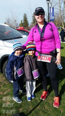Me with my boys after the race.